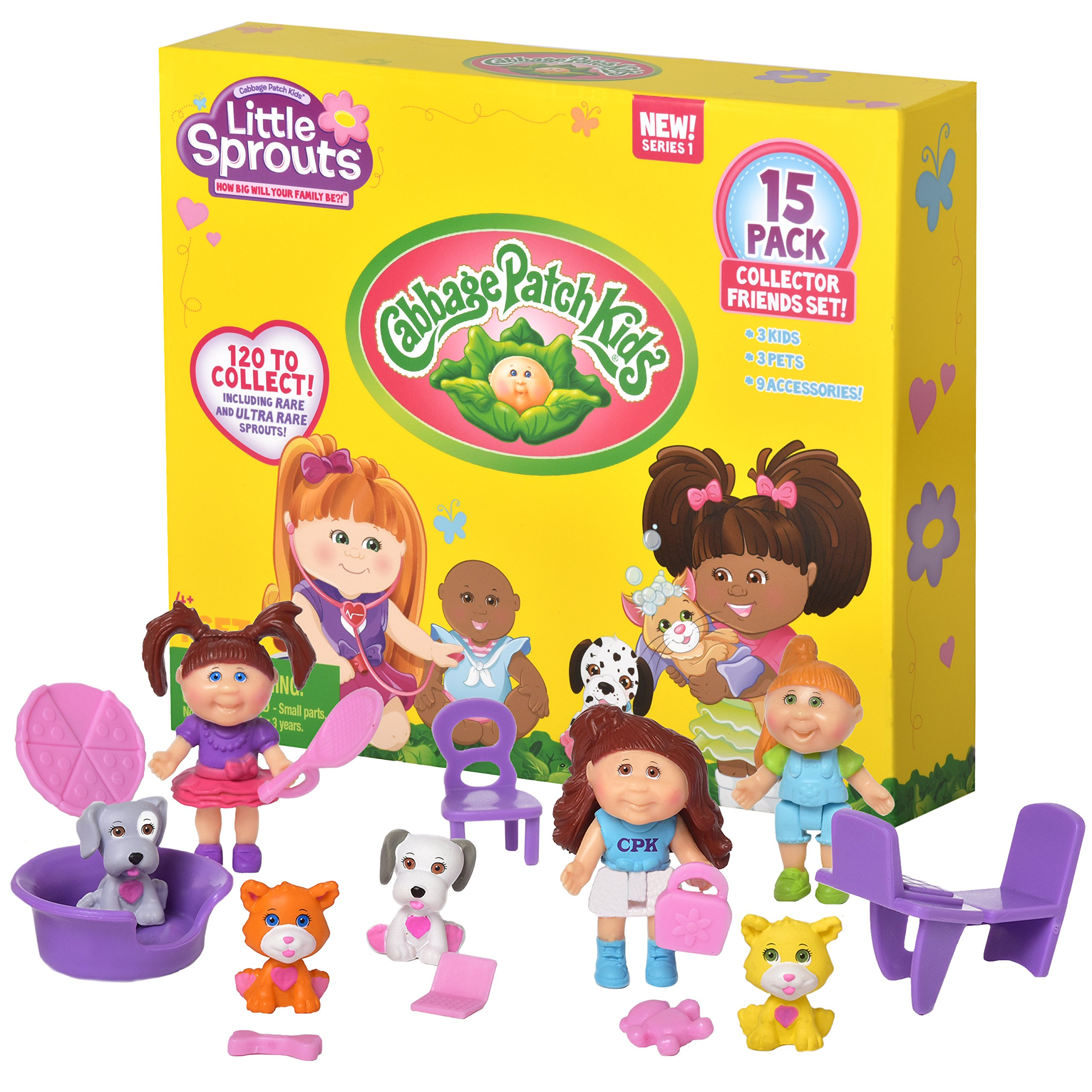 Cabbage Patch Kids Little Sprouts Collector Friends 15 Pack - Perfect for any Girls Small Doll Collections
