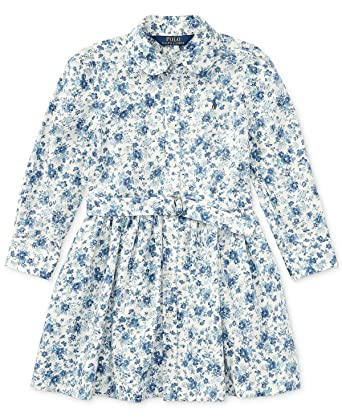 d65f5c298 Image Unavailable. Image not available for. Color  RALPH LAUREN Polo Girls  Floral Print Shirtdress Dress 12