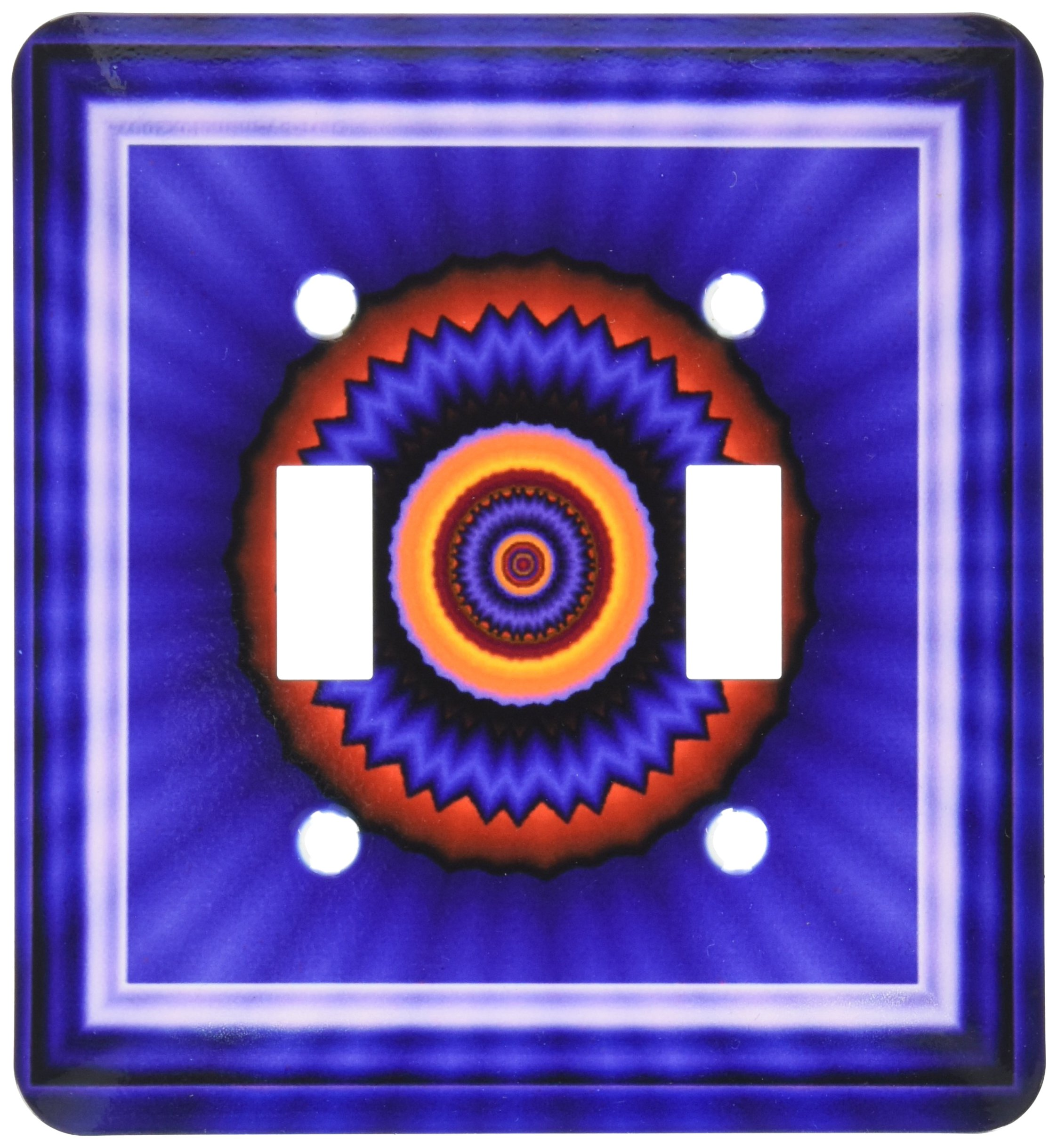 3dRose LLC lsp_24846_2 Mandala 12 Blue Red Gold Glowing Energy Power Meditation India Orient Peace Harmony Chakra Newage Double Toggle Switch