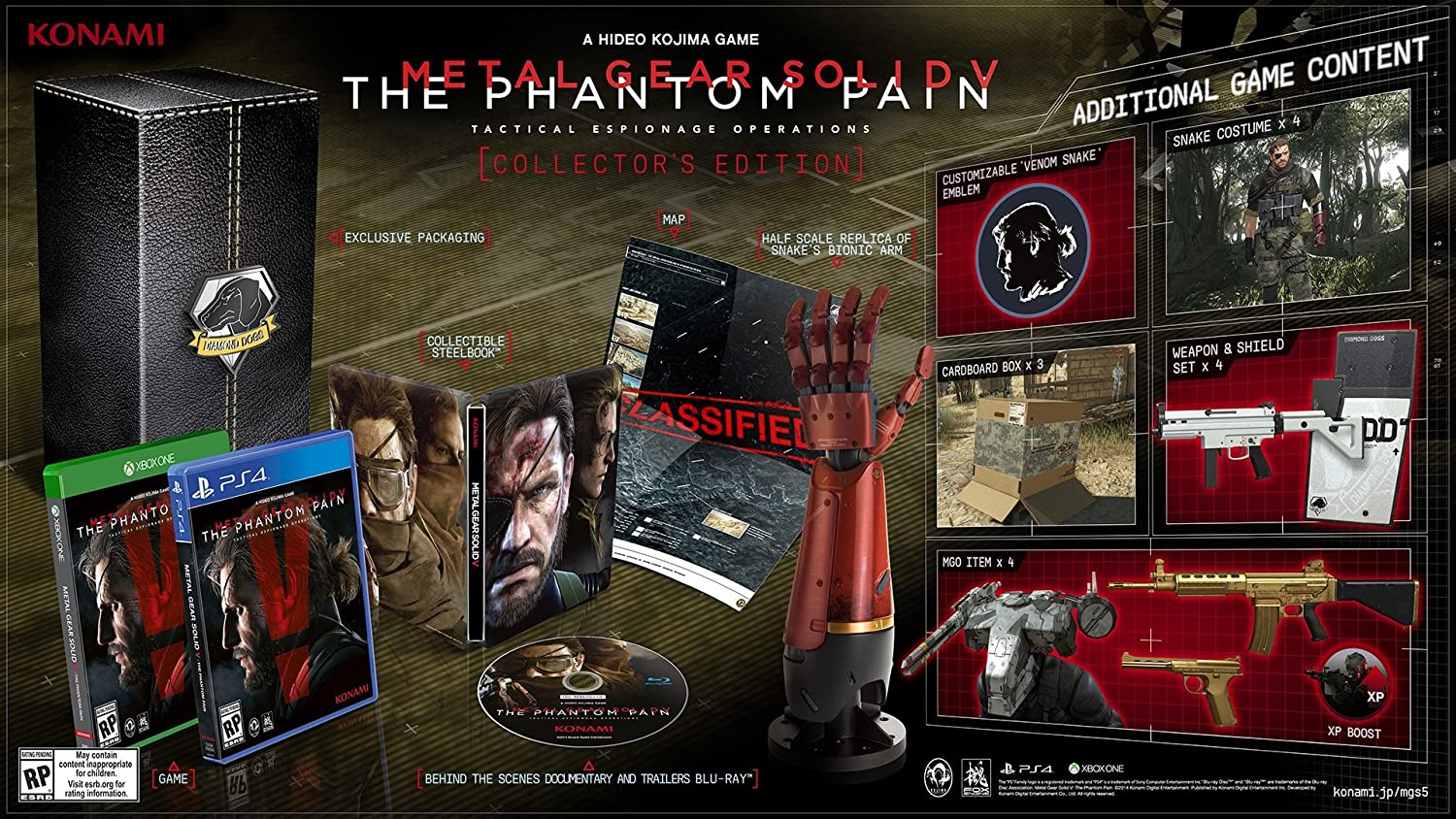 Metal gear solid v: the phantom pain collector's edition   gameszone.