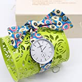 Watch Womens Colorful Cloth Strap Watch Ladies