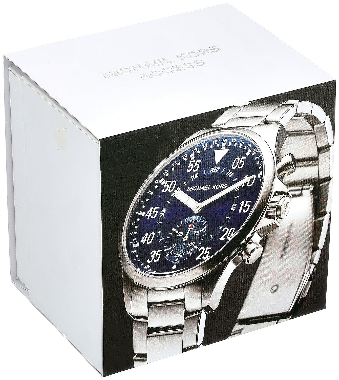 Michael Kors Reloj Unisex de Analogico con Correa en Chapado en Acero Inoxidable MKT4000: Amazon.es: Relojes