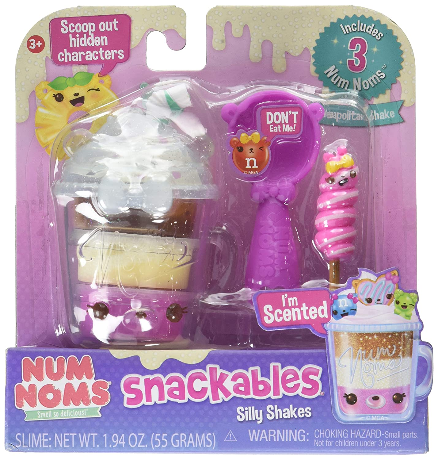 Num Noms 554370 Snackables Silly Shakes- Neapolitan Shake, Multicolor
