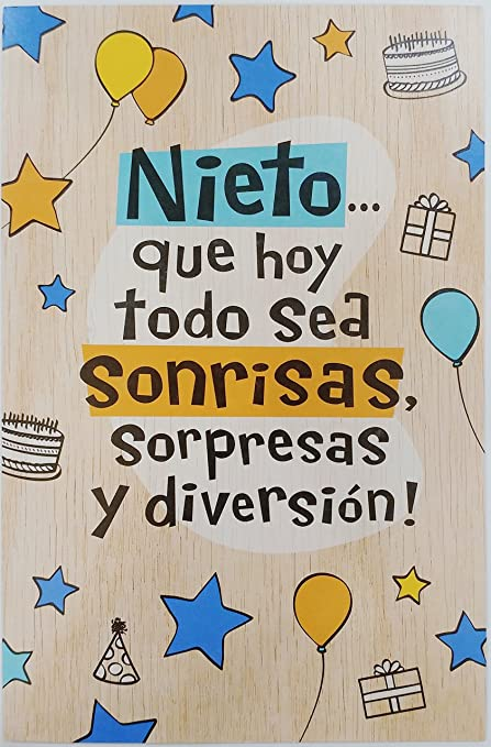 Feliz cumpleaños Nieto - feliz cumpleaños Nieto Tarjeta de ...