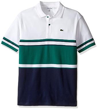 77cdfc70a Amazon.com  Lacoste Boys  Short Sleeve Bold Stripe Polo  Clothing