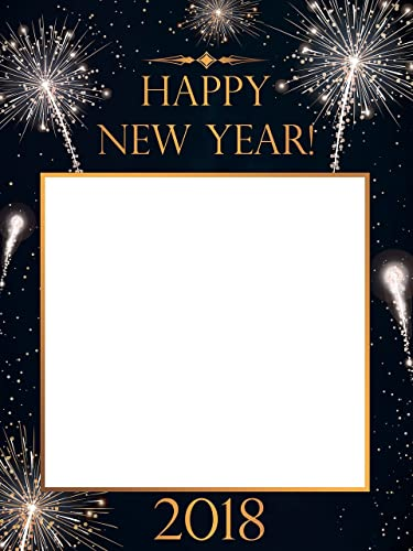 Amazon.com: Large Custom Happy New Year photo booth frame, New Year ...