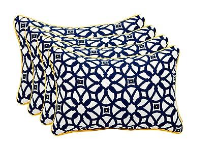 Amazon Set Of 40 Indoor Outdoor Decorative Lumbar Rectangle Inspiration Decorative Cording For Pillows