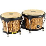 Meinl Percussion Bongos with Rubberwood Stave Shells Free Ride Suspension System and Natural Buffalo Skin Heads, 2-YEAR WARRA