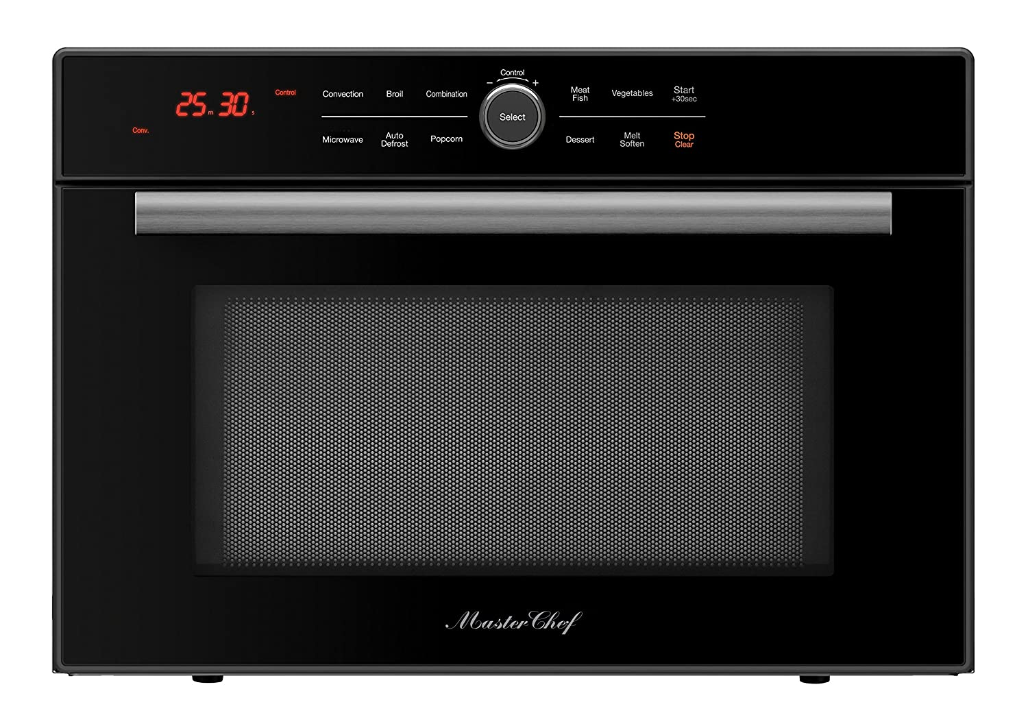 Master Chef, 5 Ovens in 1, High Speed Convection Microwave with Drop Down Door, Countertop-Black.