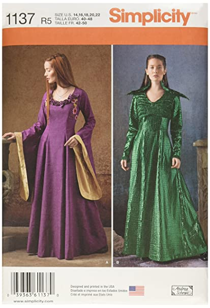 Simplicity Patterns 1137 Misses' Medieval Fantasy Costumes, R5 (14