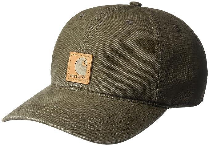 dd5640d275 Carhartt Men's Odessa Cotton Sandstone Cap, Dark Coffee, OFA at ...