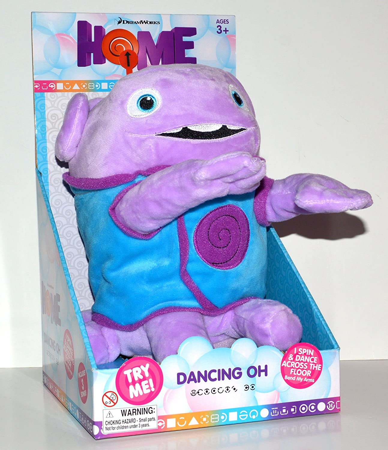 Dreamworks Home Animated Dancing Soft Plush Oh Toy In Box
