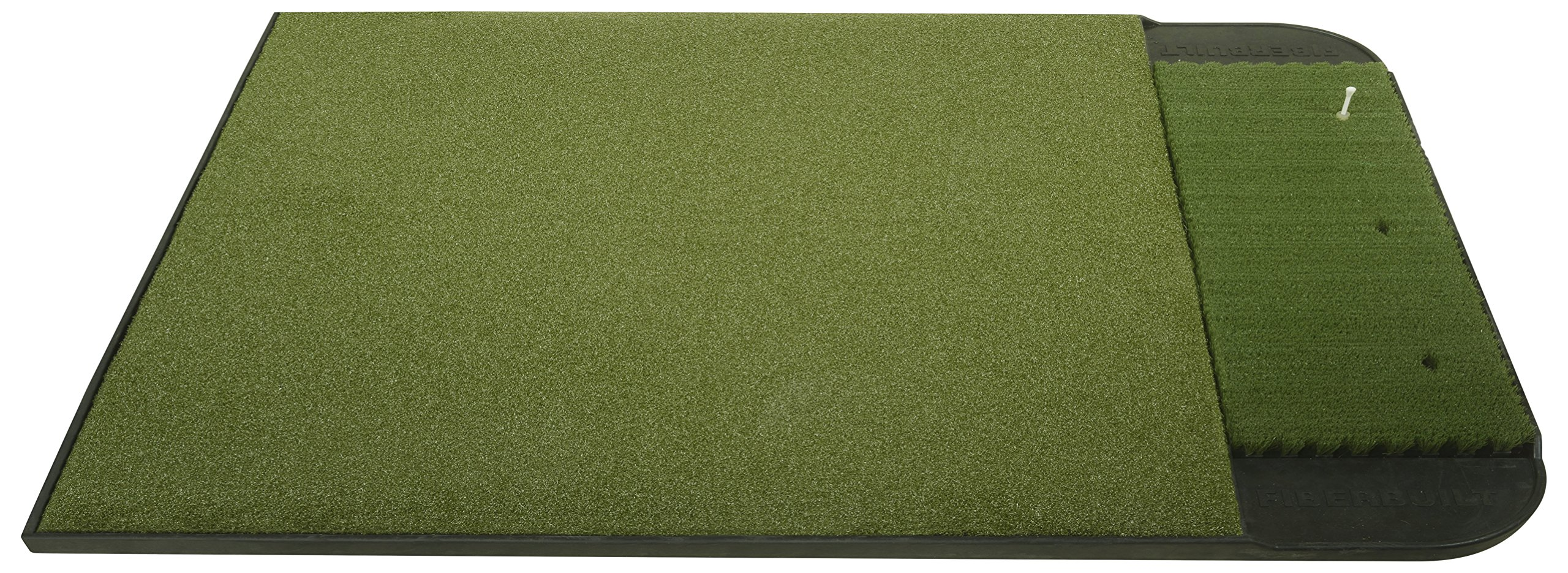 Fiberbuilt 5' x 4' Single Sided (left or right) Golf Hitting Mat - Performance Turf Stance Mat with Fiberbuilt Grass