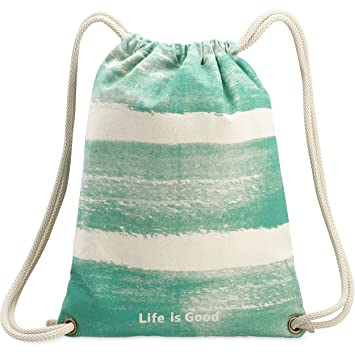 ca7ba9f983e4 Life Is Good Sail Away Cinch Sack Painted Backpack