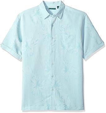db6834ad3d Cubavera Men s Short Sleeve Tonal Floral Jacquard Woven Shirt with Pocket  at Amazon Men s Clothing store