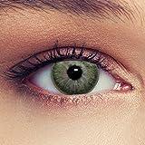 """Lenti a contatto colorate verde tenui non vistoso colores senza diottrie + gratis caso di lenti Modello""""True Green"""""""