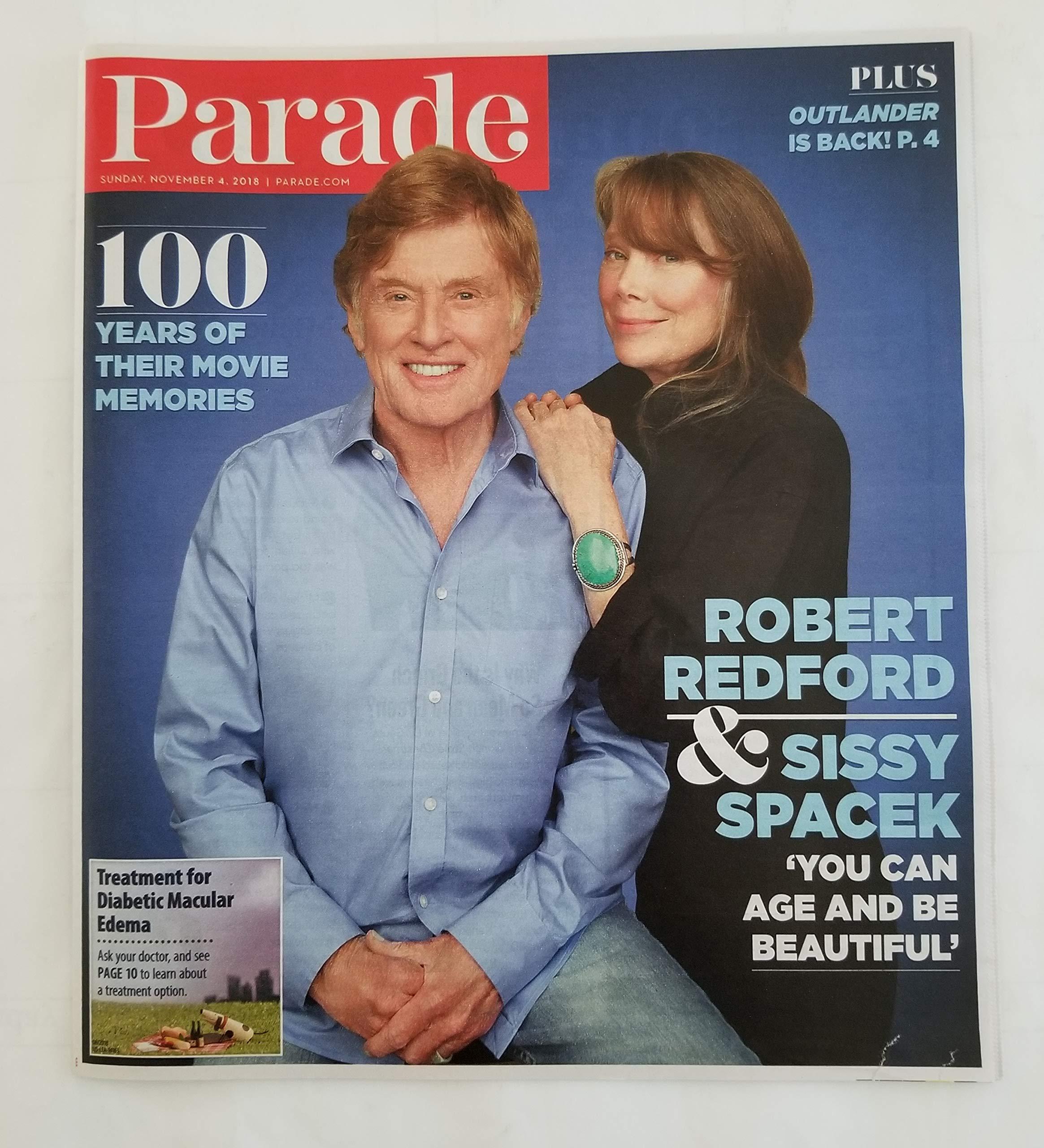 Parade Magazine - November 4, 2018 - Robert Redford & Sissy