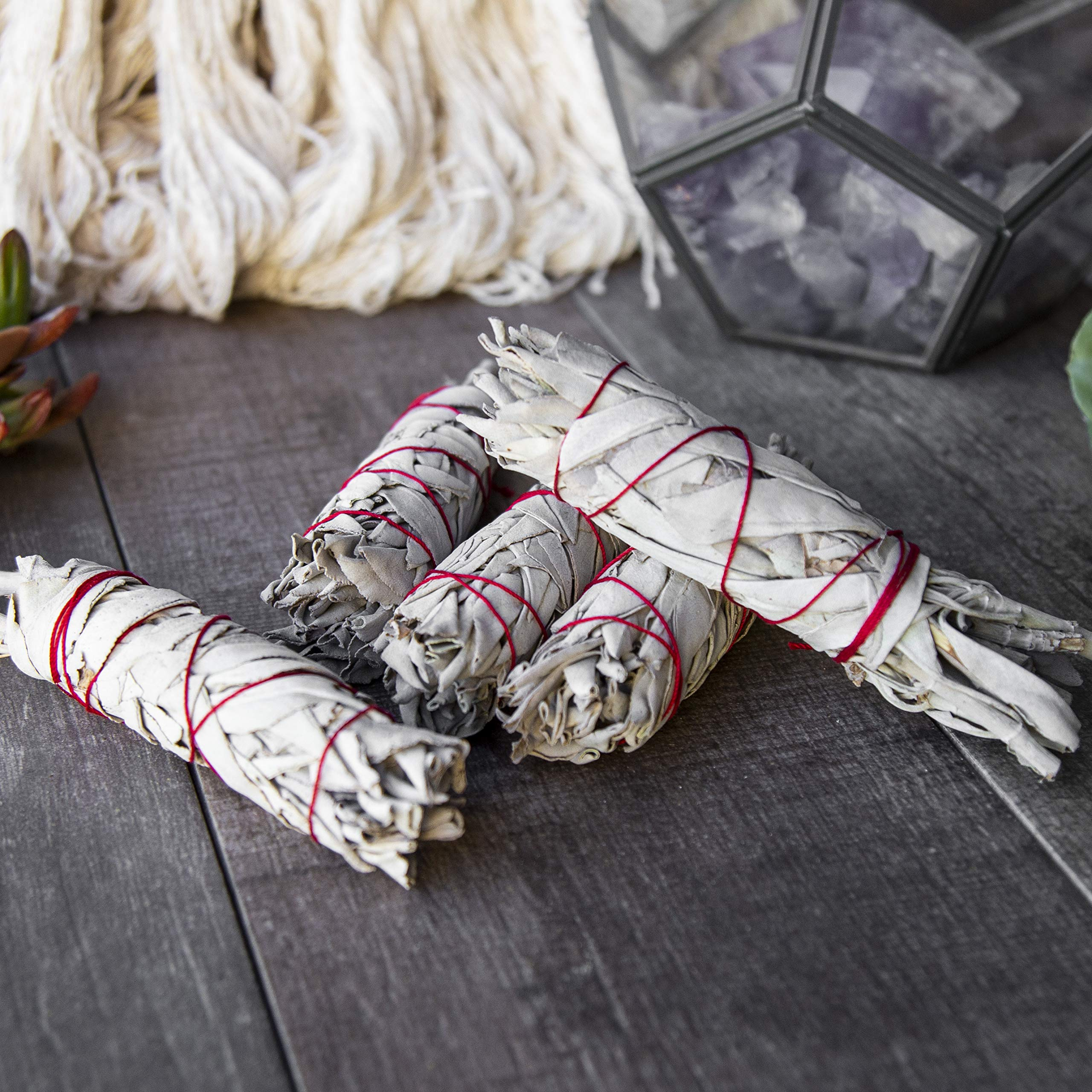 Beverly Oaks California White Sage 4'' Smudge Stick, Perfect for Smudging, Meditation, Protection and Incense, 20 Pack by Beverly Oaks (Image #5)