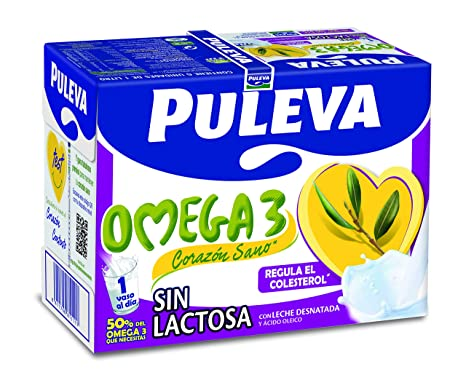 Puleva Omega 3 sin Lactosa - Pack 6 x 1 L