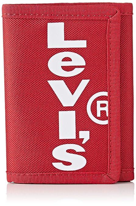 LEVIS FOOTWEAR AND ACCESSORIESOversized Red Tab TrifoldHombreCarterasRojo (B Red)1x12x9 centimeters (W x H x L)