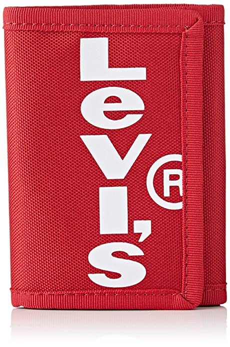 LEVIS FOOTWEAR AND ACCESSORIES - Oversized Red Tab Trifold, Hombre, Rojo (Rouge)