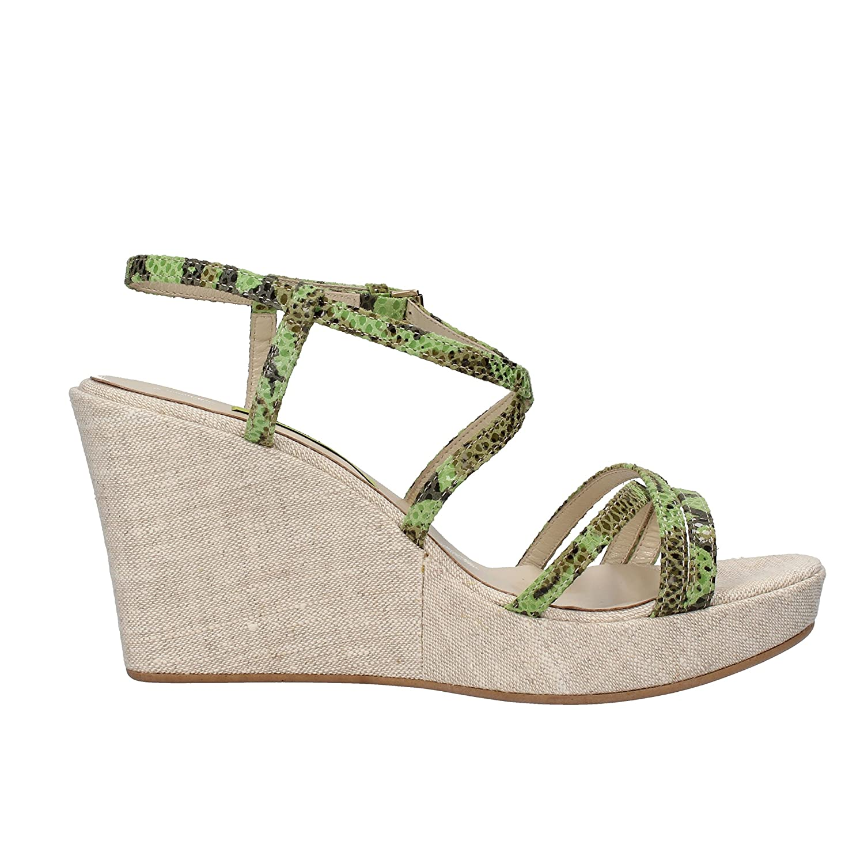 Sandalias Marrón Cuñas Verde Mujer 41 Zapatos Versace Jeans Eu SxnwXPW4qH