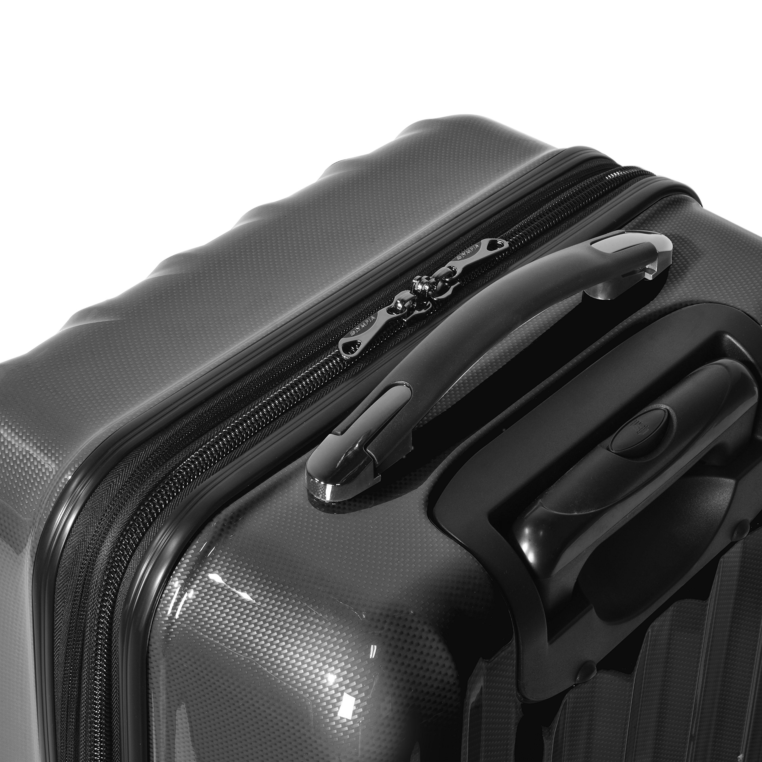 Olympia Luggage Titan 21 Inch Expandable Carry-On Hardside Spinner, Black, One Size by Olympia (Image #4)