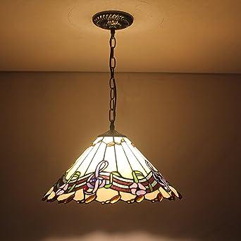 ALUK-16 pulgada lámpara de techo Tiffany Lysander playback ...