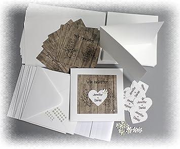 Einladung Hochzeit Für Kreative U0026quot;Bastelsetu0026quot; ...