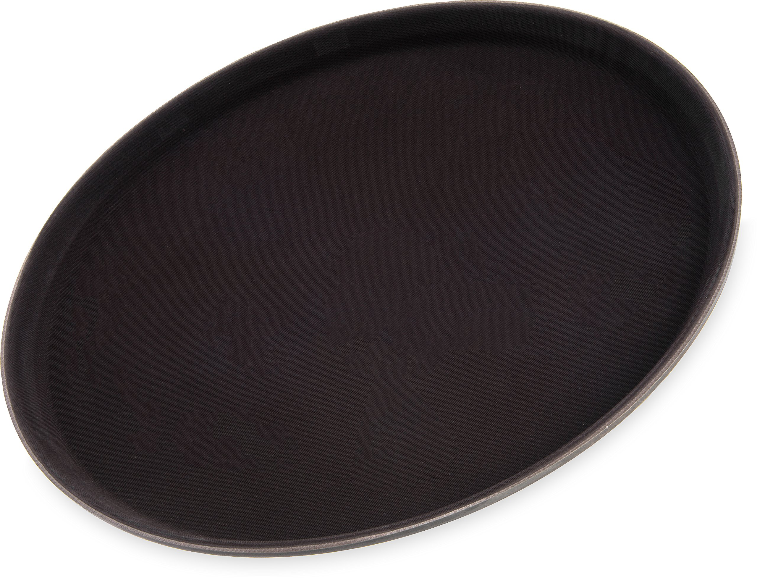 Carlisle 1400GL076 GripLite Rubber Lined Non-Slip Round Serving Tray, 14'' Diameter, Tan (Pack of 12)