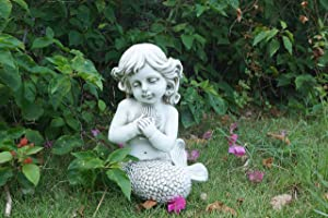 Hi- Line Gift 75598-CM Mermaid Kneeling Holding Shell