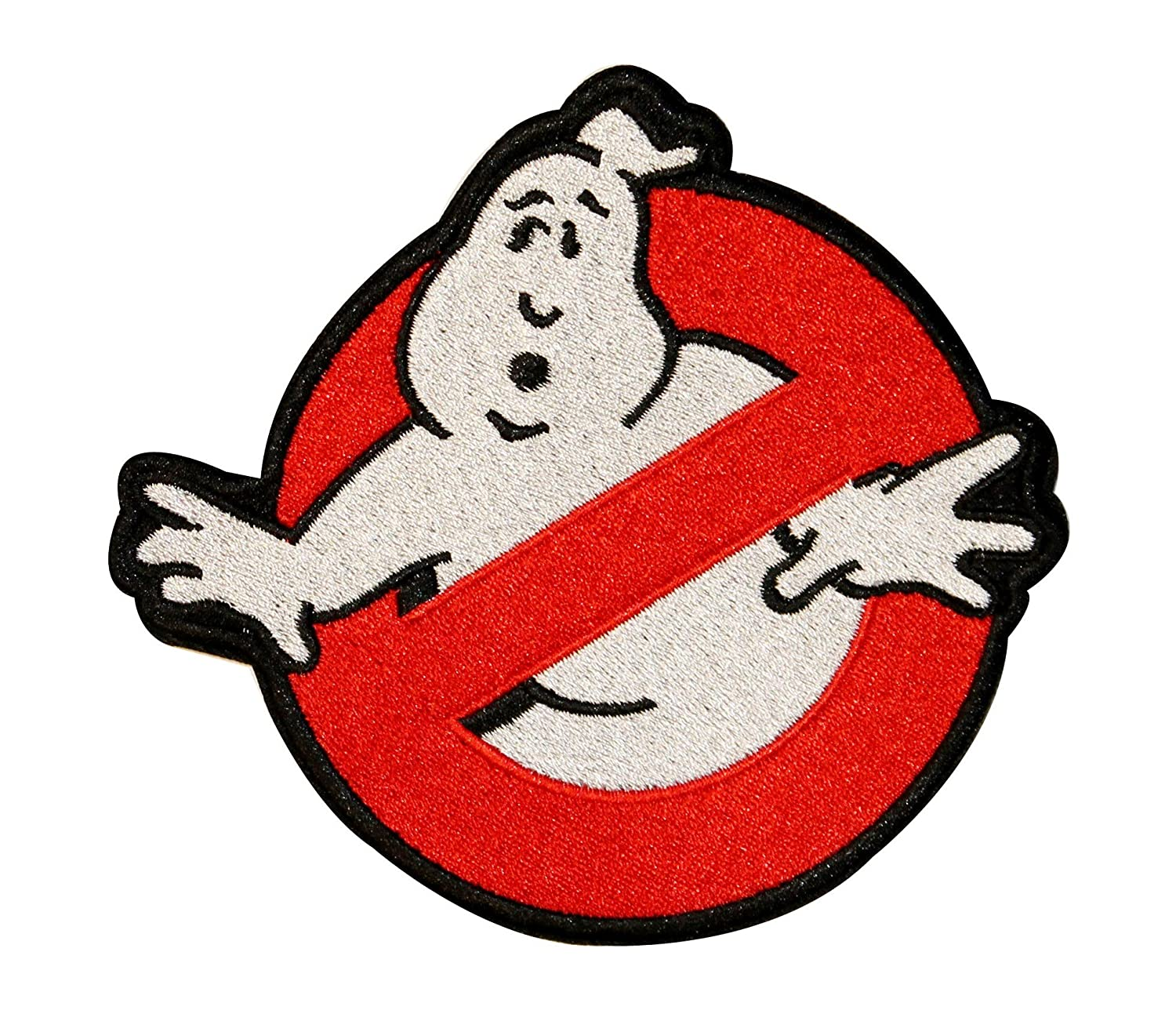 Amazon com big ghostbusters no ghost logo embroidered iron on applique patch 7 inch
