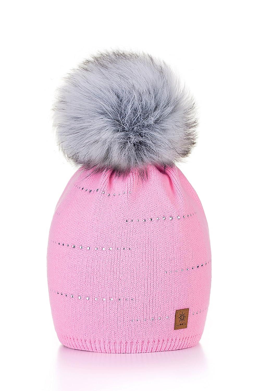 9b5ffa5fdead9 Morefaz - Gorro de lana para mujer