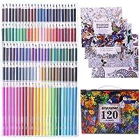 Laconile 160 oljig konst färgade pennor vibrerande färger förslipade färgade blyertspennor set för vuxna målarböcker…