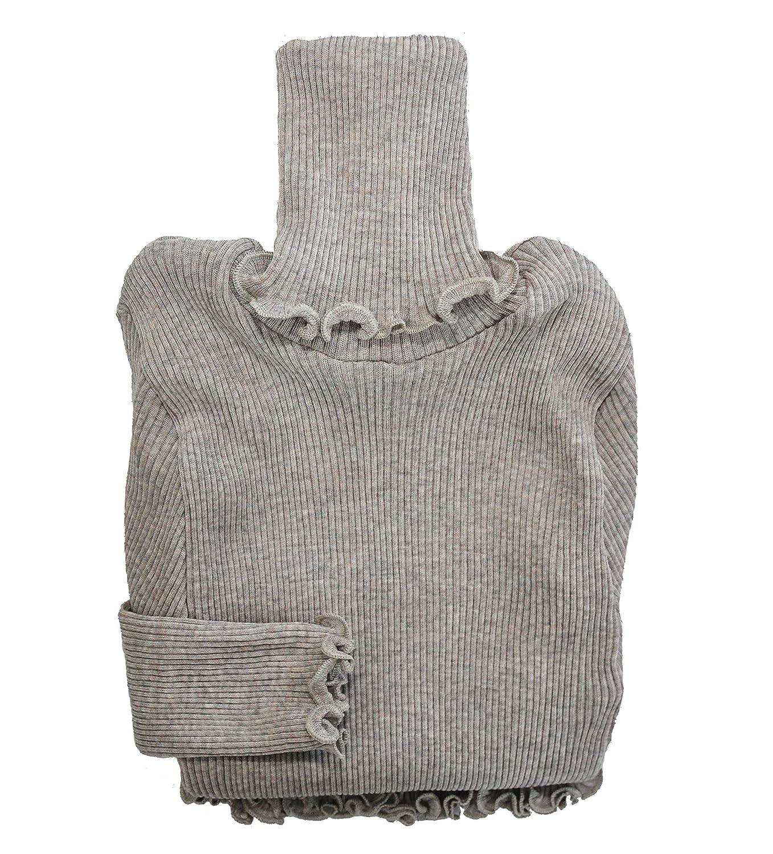 EGI Luxury Wool Silk Turtleneck Long Sleeve Top Proudly Made in Italy.
