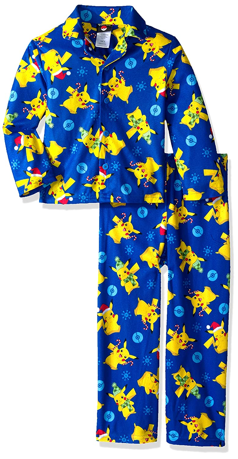 Amazon.com: Pokémon Pokemon Boys Catch Em All 2-Piece Pajama Coat Set: Clothing
