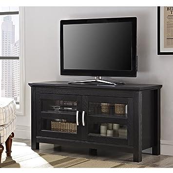Amazon Com Walker Edison 44 Coronado Tv Stand Console Black