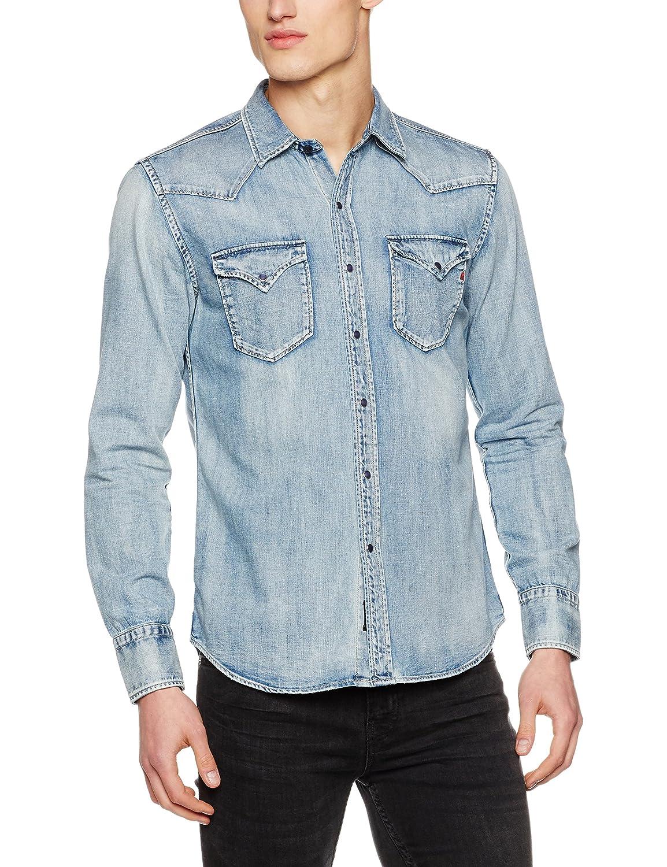 Bleu (bleu Denim) L Replay T-Shirt Homme