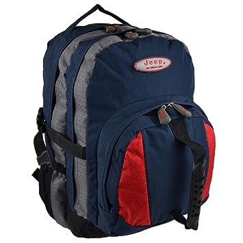 Ladies Mens Large BACKPACK RUCKSACK Bag by Jeep Outdoor Tough Walking Hiking  (Navy Grey 42b26615430a8