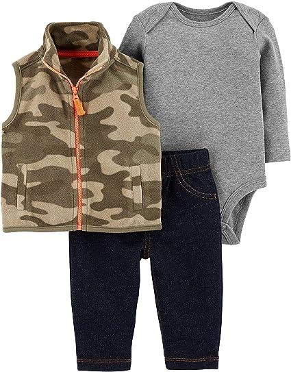 9ded8f697 Carter's Baby Boys' Vest Sets (Newborn, Camouflage/Orange)