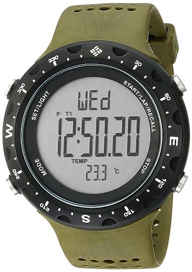 Columbia CT004-301 - Reloj digital de cuarzo unisex con correa de plástico, color verde oliva: Amazon.es: Relojes