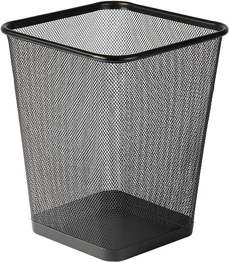 Cestino quadrato per rifiuti CEP colore: Nero in rete