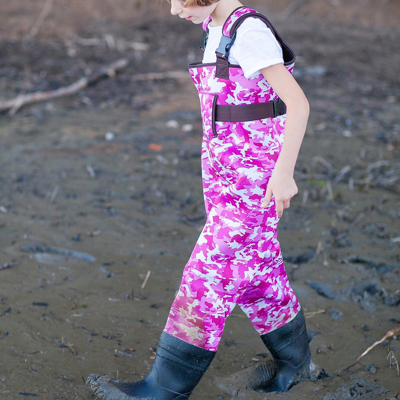 OAKI Toddler /& Childrens Neoprene Waterproof Fishing Waders for Kids