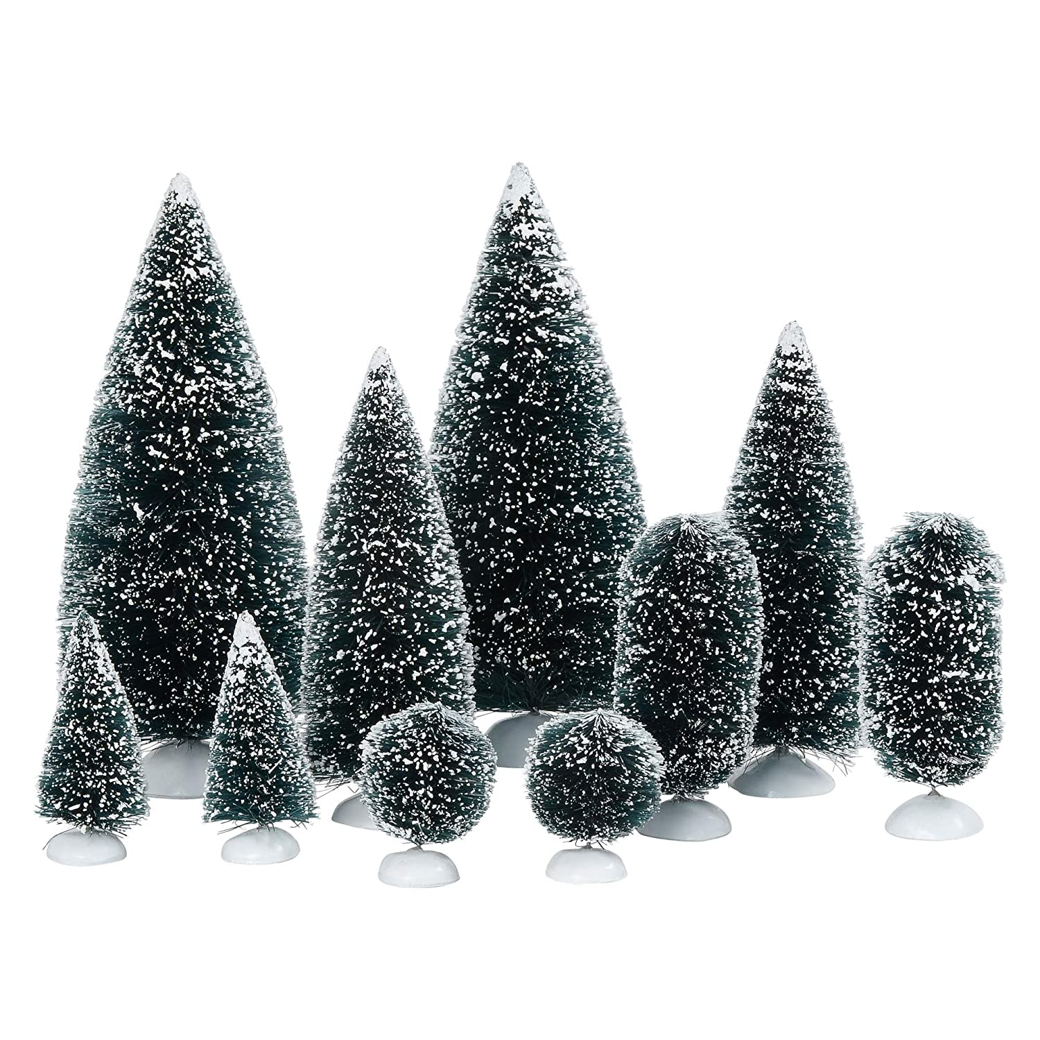 Christmas bottle brush christmas tree set. #bottlebrush #christmastree #holidaydecor #christmasdecorating
