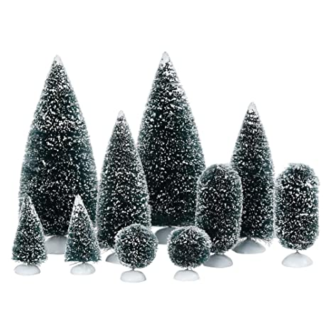 Department 56 Christmas Village Display.Department 56 Accessories For Villages Bag O Frosted Topiaries Tree