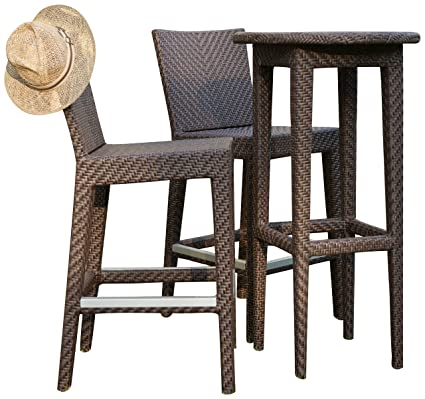 Hospitality Rattan 3 PC SET 903 P Soho 3 Piece Pub U0026 Barstool Group