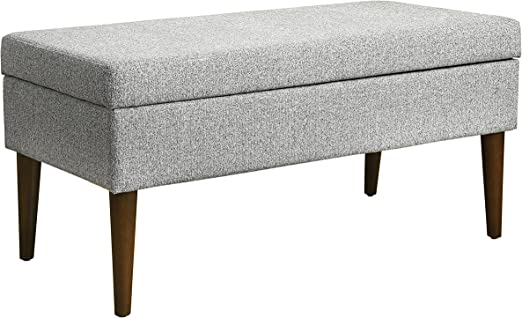 Amazon Com Spatial Order Kaufmann Modern Large Storage Bench Ash