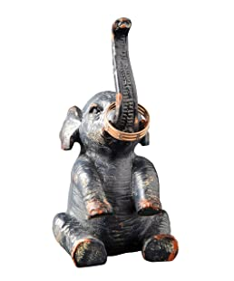 Creative Co-op Pewter Elephant Ring Holder
