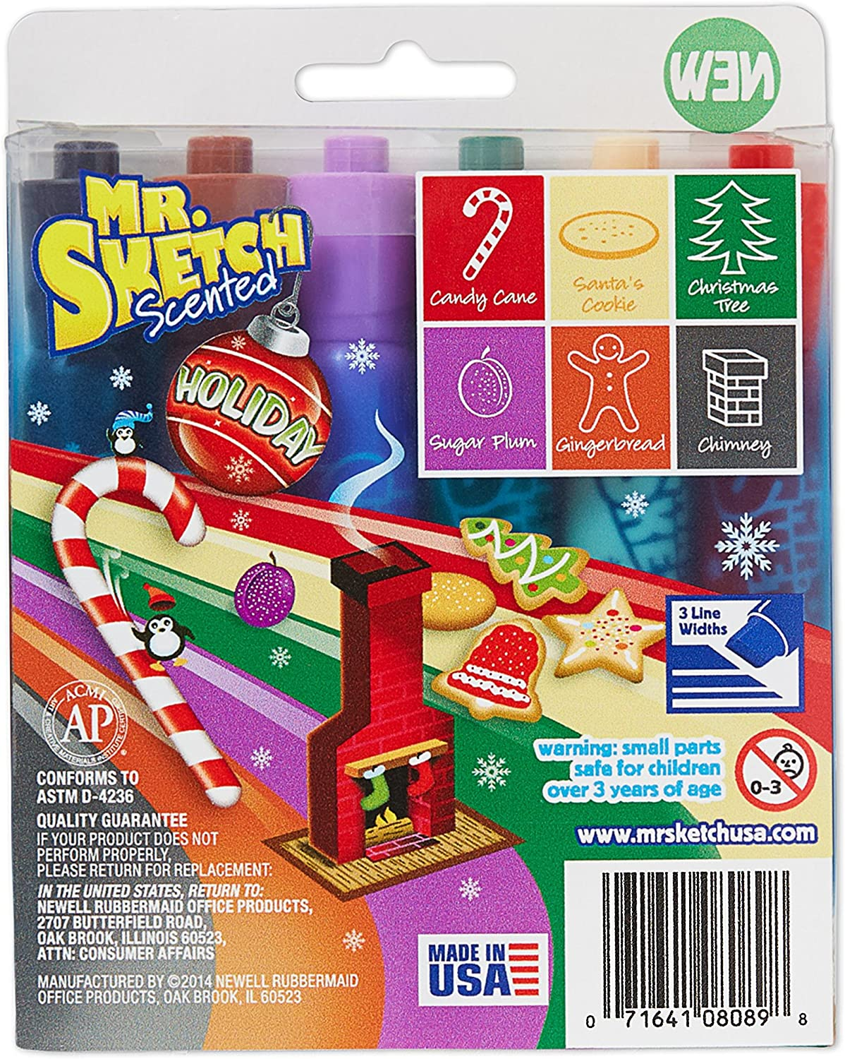 Mr. Sketch 1924061 Washable Scented Markers, Chisel Tip, Assorted Colors, 14-Count: Office Products