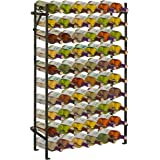 Modern Black Metal 60 Bottle Wine Cellar Organizer Rack / Wall Mounted Wine Collection Display Stand